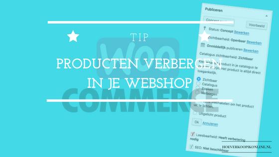 Product verbergen in je webshop