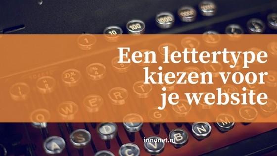 Een lettertype kiezen voor je website