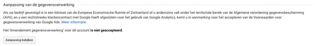 google-analytics-aanpassing-gegevensverwerking