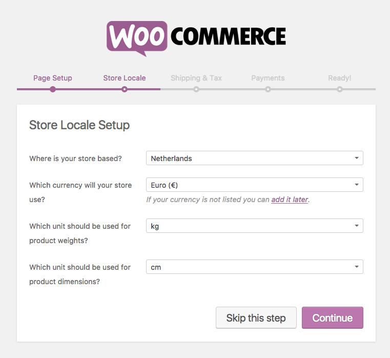 woocommerce-installeren-store-locale-setup