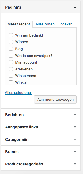 wordpress-menu-items-toevoegen