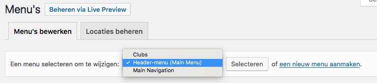 wordpress-menu-selecteren