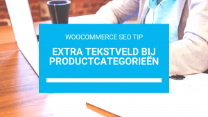 Extra tekstveld bij productcategorieën